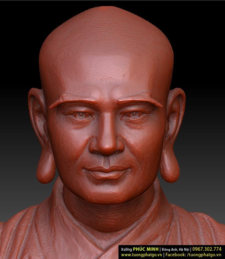 Tượng Phật Hoàng Trần Nhân Tông, Tam tổ Trúc lâm